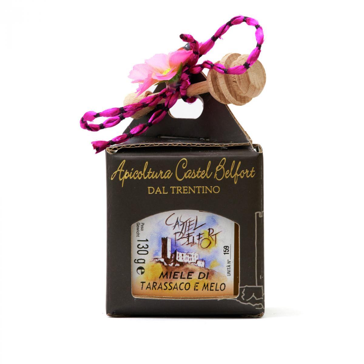 Scatola in cartoncino da 1 vaso di miele da 130g