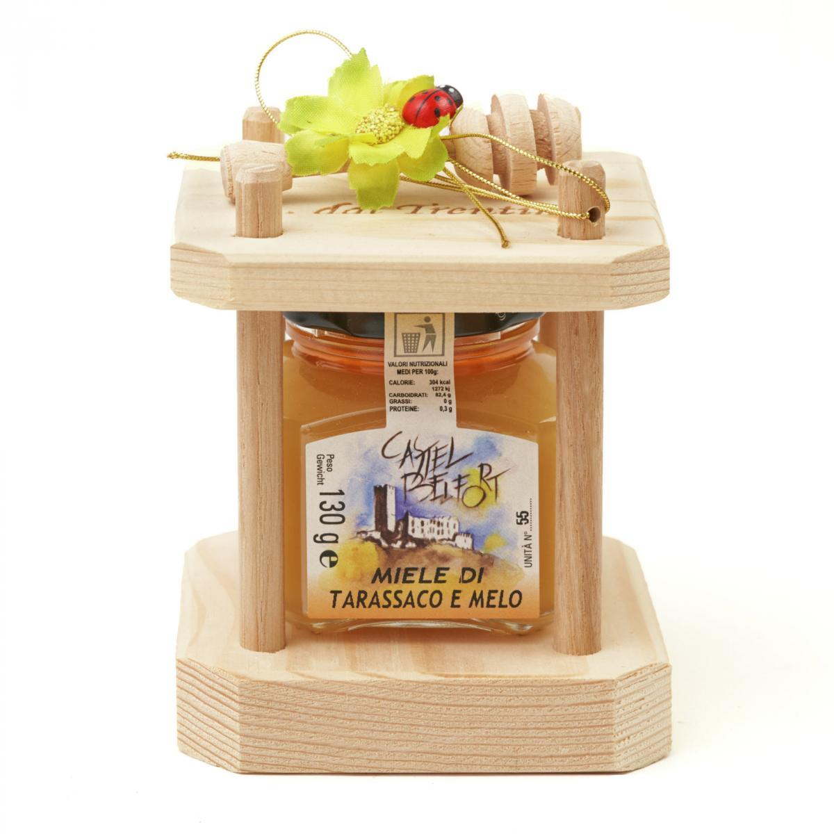 Confezione da 1 vaso di miele da 130g (clessidra)