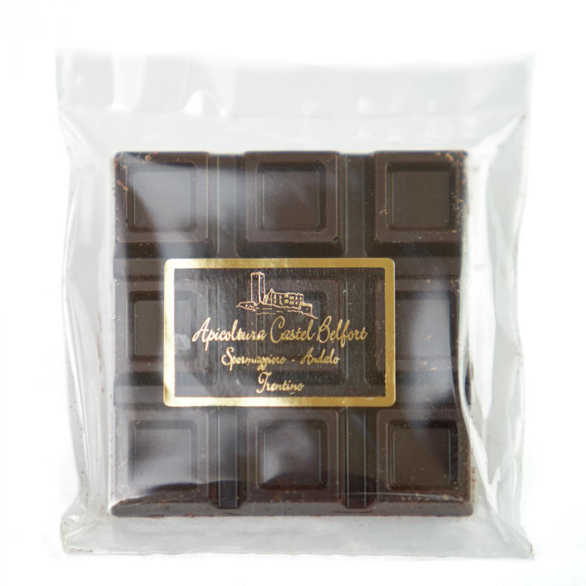 Tavoletta al cioccolato fondente e miele