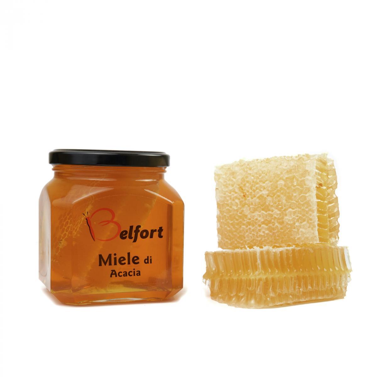 Miele di acacia in favo