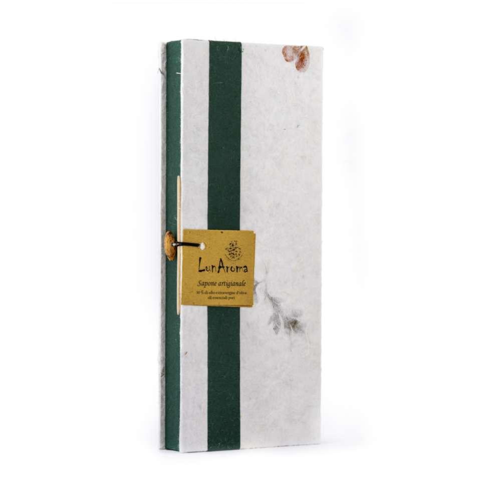 4 saponette e portasapone in confezione regalo verde
