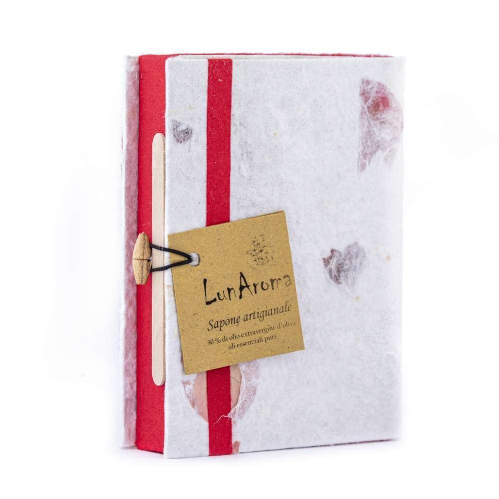 4 Saponette in confezione regalo rossa
