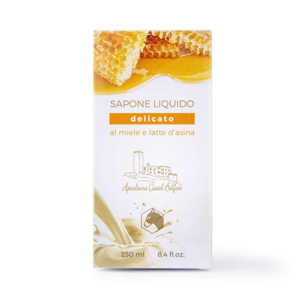Sapone liquido delicato al latte d'asina e miele