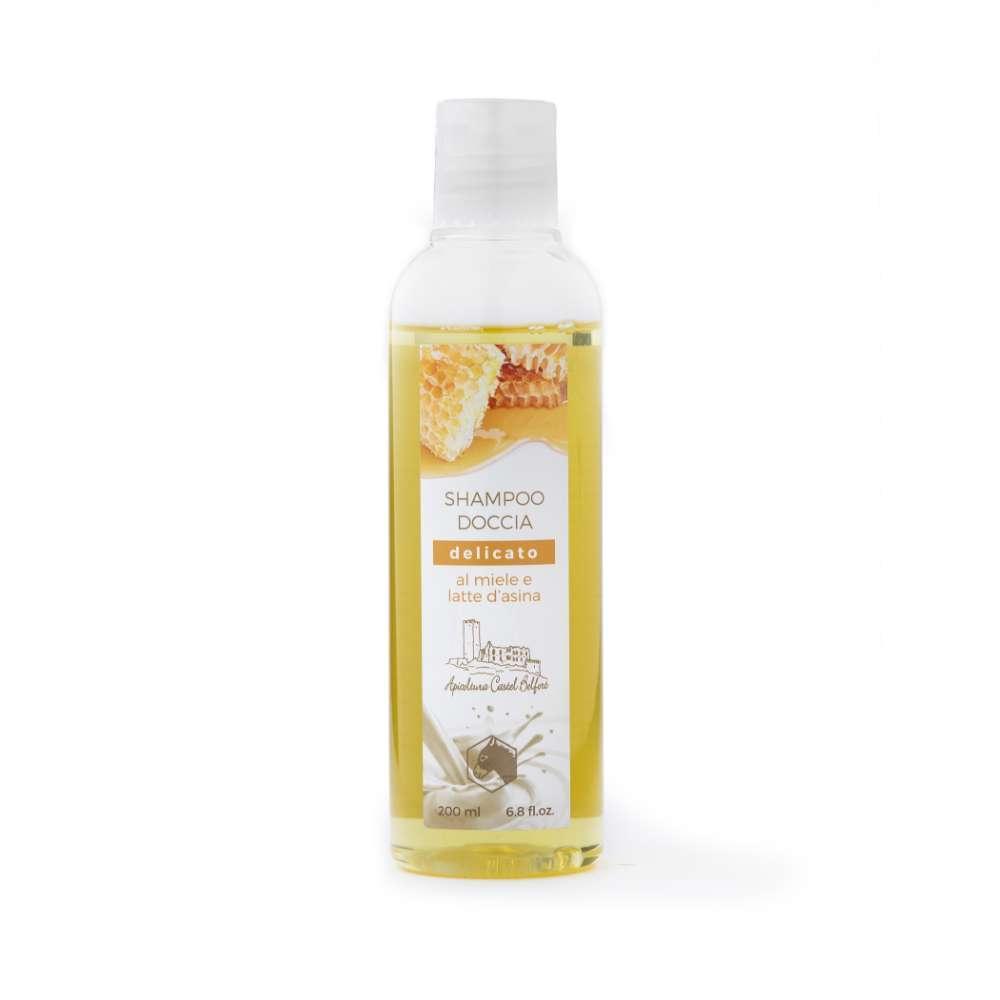 Shampoo doccia delicato al latte d'asina e miele