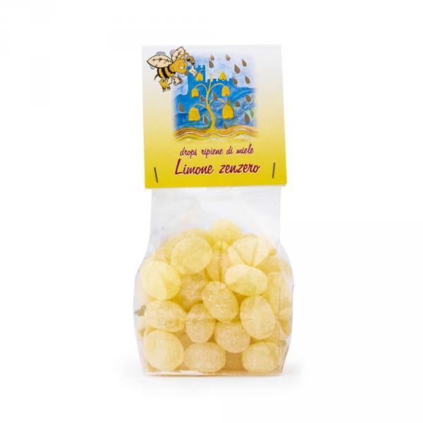 Drops ripiene di miele limone e zenzero